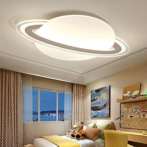 Mooie decoratieve ledlampen, 33W, dimbaar, plafondlamp met afstandsbediening, kinderlamp, acryl, wit en metalen plafondlamp voor slaapkamer, keuken, decoratie kinderkamer, kinderkamer, plafondverlichting, 60 x 40