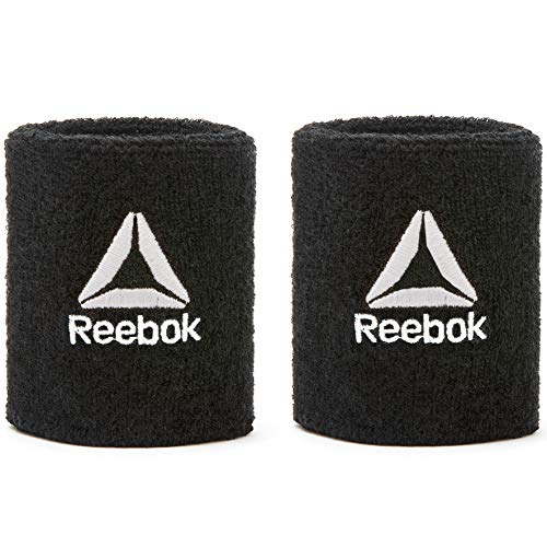 Reebok Unisex's Wristbands Sports, Black, Short