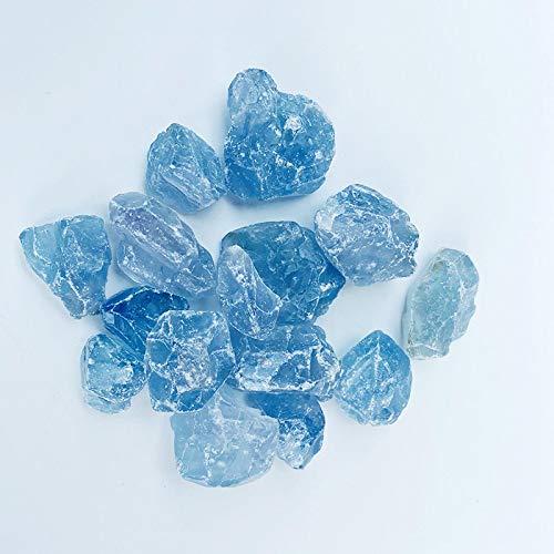 Aguamarina, piedra de cuarzo azul, lapislázuli crudo, piedra de cristal natural al por mayor 1,5 cm - 2,5 cm, 10 kg
