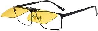 DishyKooker Men Anti-blue Light Mirror Set Polarized Night Vision Driving Sunglasses Fit for Myopia Glasses
