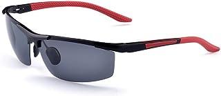 a-rovalメンズ偏光長方形Large Drivingメタルサングラス