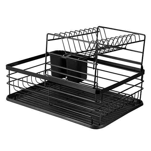 Afdruiprek, eenvoudig te monteren serviesrek, hol ontworpen duurzaam opbergrek voor serviesgoed, voor schalen