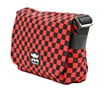 Red Checkered Board Punk Crossbody Small Messenger Purse Alternative Style Handbag