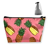 Pineapple Pattern Makeup Bag Cosmetic Bags Travel Organizer Mini Train Case