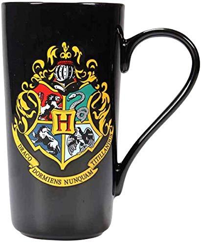 Harry Potter - Taza XXL con escudo de Hogwarts (500 ml), color negro