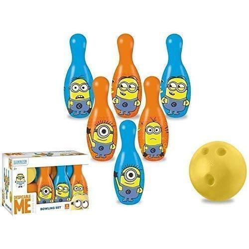 Lively Moments Bowling - Set / Kegelset / Bowlingpins / Spielzeug von Ich - Einfach unverbesserlich / Minions für Kinder mit Bob, Kevin und Stuart