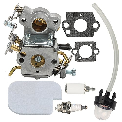 Butom 545070601 Carburetor with Air Fuel Filter for Craftsman 358351710 358351700 358350990 358351900 358351820 358351600 358351810 358351800 358350820 358350830 358351610 Chainsaw C1M-W26
