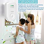 Air purifiers plug in for home, mini odor eliminator丨ozone negative ion dual function丨ionizer to remove smoke pet toilet… 9 🍃2-in-1 pluggable air purifier: cornmi air purifier has a built-in ozone and negative ion generator. Ozone has a strong oxidative decomposition ability, and negative ions can absorb dust. The combination of these two functions can effectively eliminate pet odor, secondhand smoke and kitchen oil fume, allowing you to enjoy natural fresh air at home. 🍃ozone deodorization function: the deodorizer can achieve the purpose of comprehensive and efficient cleaning by short-term releasing low-concentration o₃. O₃ has strong permeability, diffusibility and decomposition ability, which can effectively eliminate harmful substances and smells in the air. 🍃anion purification function: the air ionizer can produce anion, combine with the dust that are positive ions in the air and sink to the ground, avoiding the danger of inhaling floating objects. And achieve the removal of cigarette smoke, oil fumeand other particles matter. Effectivelyrefresh the air and improve the quality of sleep.