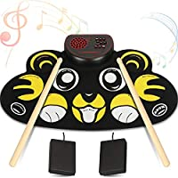 Yuoioyu 9 Pad Flexible Roll Up Drum Kit