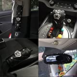 Follicomfy 5PCS Car Interior Accessories Set Diamond Crown Auto Brake Gear Sleeve Seat Belt Shoulder Rearview...