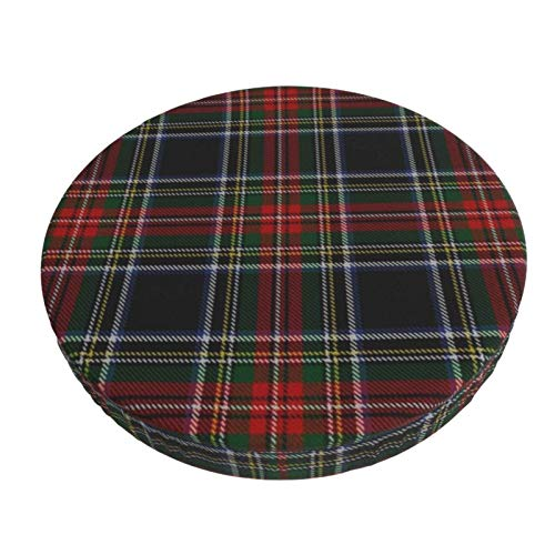 Round Bar Stools Cover,Schwarzer Stewart Tartan,Stretch Chair Seat Bar Stool Cover Seat Cushion Slipcovers Chair Cushion Cover Round Lift Chair Stool