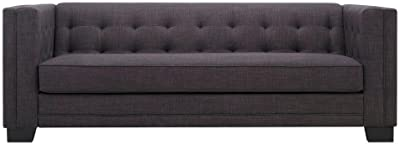 Amazon.com: Sunpan Modern Donnie Sofa, Dark Grey Fabric ...