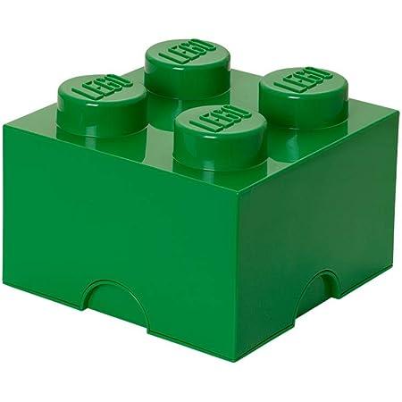 Brique de rangement LEGO 4 plots, Boîte de rangement empilable, 5,7 l, vert
