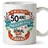 Mugffins Mug/Tasse Joyeux 50 Anniversaire - Il m'a Fallu 50 Ans pour Devenir Aussi Génial et Presque Parfait - Cadeau Original pour Homme et Femme