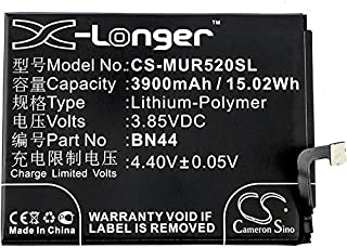 3900mAh Replacement Battery for Xiaomi MEE7, MEG7, Mi Max, Note 5 Dual SIM TD-LTE, Redmi 5 Plus, Redmi 5 Plus Dual SIM, Redmi 5 Plus Dual SIM TD-LTE, Redmi Note 5 Dual SIM, Vince
