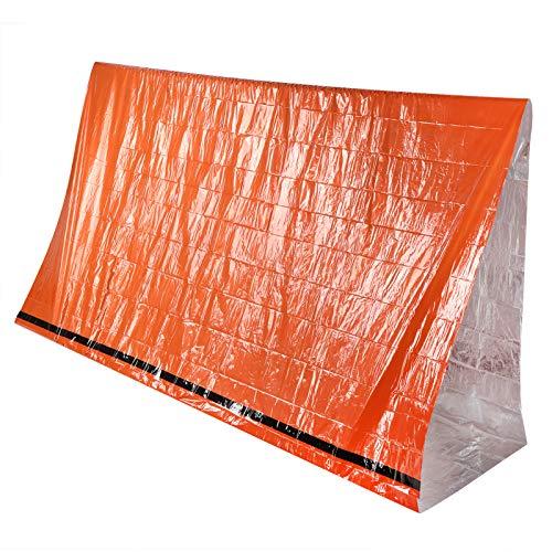 Tienda de campaña, tienda de campaña, película compuesta de papel de aluminio Naranja Portátil para acampar Situaciones de emergencia al aire libre Actividades al aire libre Senderismo