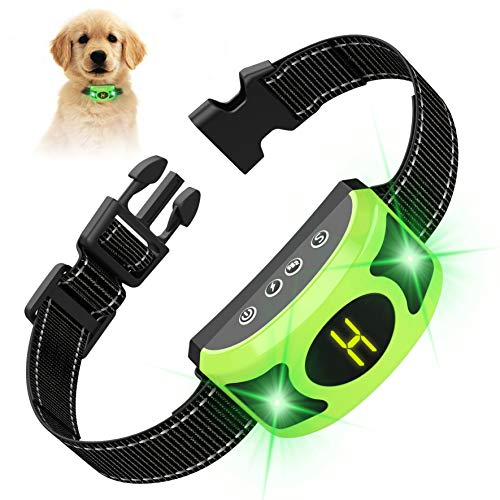 VALOIN 【2019 Upgraded Dog Barking Collar with Breathing Light, Smart Dog Training Anti Bark with Beep Vibration Harmless Shock for Small Medium Large Dogs,Rechargeable and Waterproof