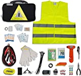 Secureguard Roadside Emergency Kit Supplies - New Version Includes...