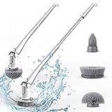 Orthland Elektrische Reinigungsbürste Spin Scrubber, mit 3 Einstellbar Bürstenköpfe Multifunctional Bürste Schrubbenfür Küche