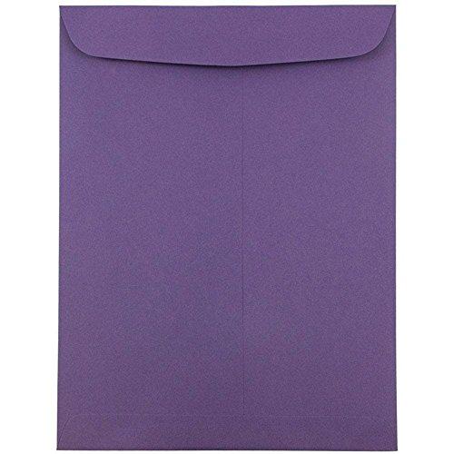 JAM PAPER 9 x 12 Open End Catalog Premium Envelopes - Dark Purple - 10/Pack