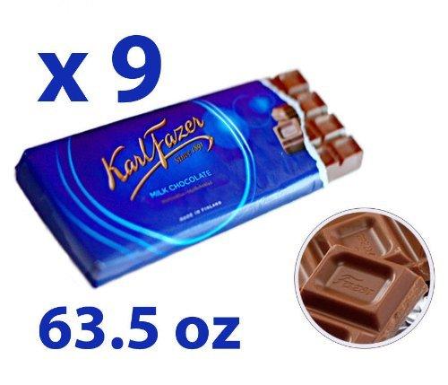Milchschokolade Blau Original aus Finnland by Karl Fazer [Packung von 9]