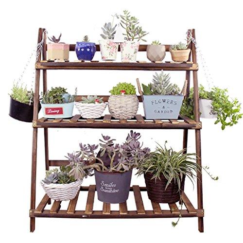 Solide Bois Pliable Charnue Bonsaï Fleur Étagère Étage Salon Balcon Intérieure Et Extérieure Jardin Étagère