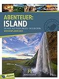 Island - Wochenplaner Kalender 2021, Wandkalender im Hochformat (25x33 cm) - Wochenkalender mit Rätseln und Sudokus auf der Rückseite
