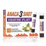 Anaca3 – Shot Ventre Plat (1) – Ballonnements (1) & Drainant (2) – Boîte de 14 shots à Boire – Shot de 25 ml