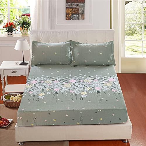 YDyun Protector de colchón - cubrecolchón Transpirable Algodón Grueso