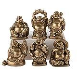 lachineuse 6 Figuras de Buda con archivador, Figurines Doré, 26x6x3cm...