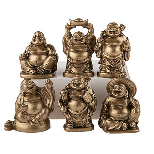 lachineuse 6 Figuras de Buda con archivador, Figurines Doré, 26x6x3cm
