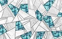 壁の壁画 壁紙 ウォールカバー 幾何学図形線青灰色 壁画 壁紙 ベッドルーム リビングルーム ソファ テレビ 背景 壁 壁面装飾のための,150x105cm