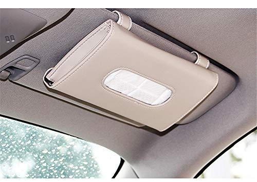 Caja de tejido de viseraCaja de pañuelos de coche colgada Visera parasol Caja de pañuelos de coche silla colgante, blanco