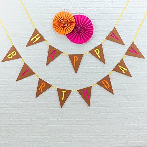 Ginger Ray Lot de 3 décorations fluo pour anniversaire de mariage, fête (Orange)
