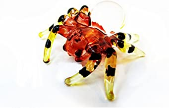 Lampwork COLLECTIBLE MINIATURE HAND BLOWN Art GLASS Mini Spider FIGURINE