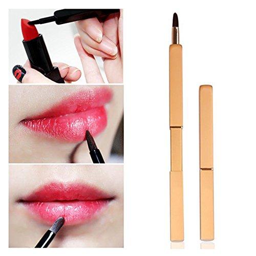 Pinkiou Lip Pinsel Lippenstift Gross Lip Make-up Pinsel Retractable Kosmetik-Tool (schwarz)
