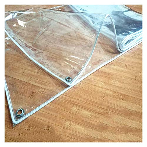 ALGWXQ Lonas Transparente De Vidrio Suave Alta Transmitancia De Luz Invernadero Patio Jardín Protección Multifuncional Lona De Partición A Prueba De Polv Viento, 14 Especificaciones