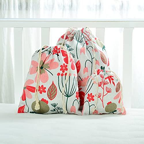 9 piezas de bolsa de lino con cordón bolsa de regalo de caramelo joyería caja de almacenamiento cosmética moneda clave caso 323202