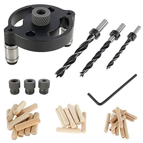 Guide pour perceuse Cheville pour bois Positionneur de perçage Positionneur Dima Vertical pour outils de taillage pour porte armoire