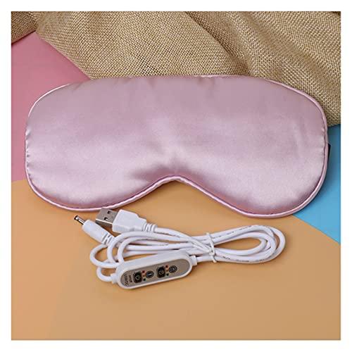Sauna Beheizte Augenmaske zum Schlafen USB Lavendel beheizte Augenmaske Warm Dampf Trockene Augenmaske Elektrische Temperatur Heizung Heiße Augenmaske Tragbare Dampfsauna (Color : Pink)