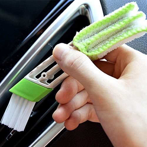 Trihedral-X 2 Picecs Multifunctionele Rolluiken Duster Wasbare Borstel Dubbele Aanval House Cleaner Auto Air Vent