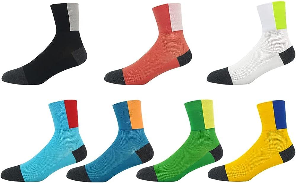 Men Women Cycling Socks Anti-Slip Wearproof Breathable Running Hiking V9P8