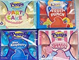 EASTER Peeps Marshmallow Variety Pack of 4 | FLAVORS - Part Cake, Fruit Punch, & Cotton Candy, & Blue Raspberry from Peep