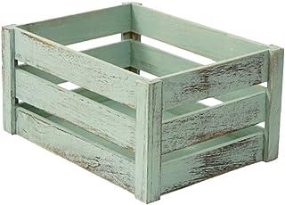 CLISPEED Panier de Rangement en Bois Bac de Rangement Caisses en Bois Boîte de Rangement de Panier de Bureau pour Fruits L...