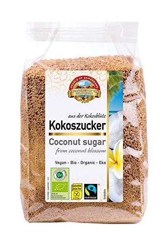 Azúcar de flor de coco orgánica premium Comercio justo sin gluten 2,4 kg BIO, aromático sin refinar, alimentos crudos, vegano, edulcorante alternativo natural 6x400g