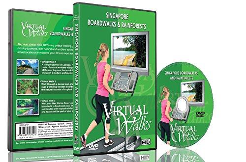 Virtuelle Spaziergänge - Singapur Strandpromenaden & Regenwälder für Innen-Walking, Laufband und Radfahren