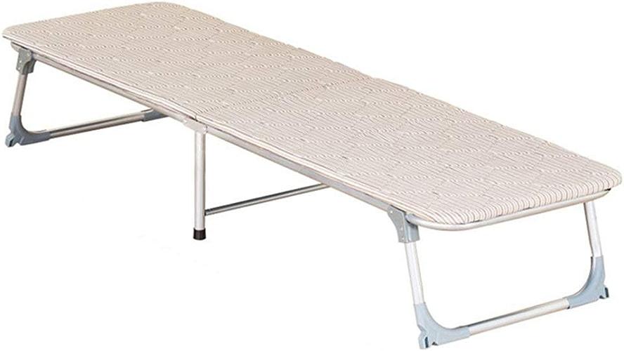 Hxx Lits pliants Lit de Camping Lit de ménage Lit Simple Bureau Déjeuner-lit Lit d'accompagnement Lit de Plage en Plein air Chaise Longue pouvant Supporter 150 kg,183  73  35cm