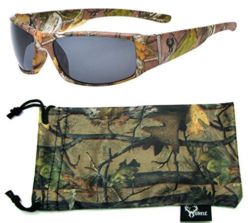 Hornz Brown Camuflaje Bosque polarizados Gafas Sol