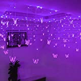 Lainin String Light 3.5M/11.5FT 96SMD Curtain Light 16 LED Butterfly Strings 8 Mode Fairy Light Strip for Party Indoor Outdoor Room Garden Wall Wedding Christmas Xmas Decorations