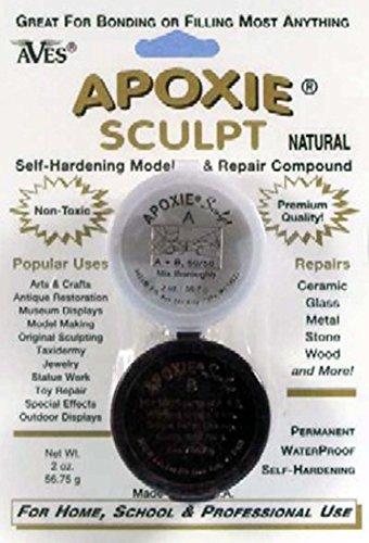 Apoxie Sculpt - 2 Part Modeling Compound (A & B) - 1/4 Pound, Natural